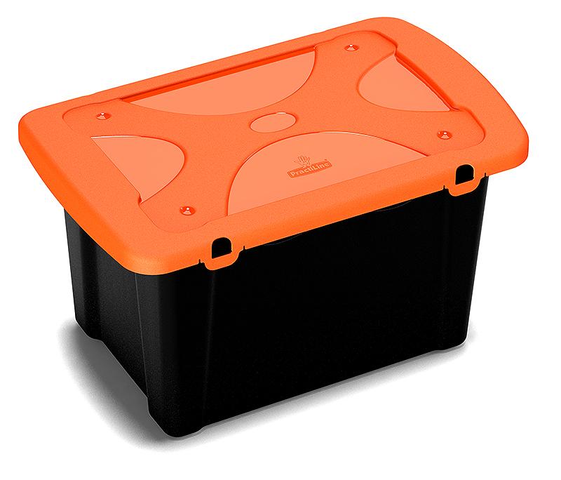 PractiBox iso tapa naranja