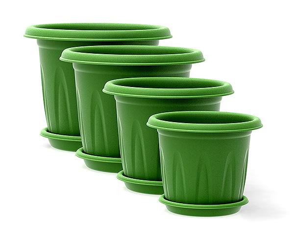Vasos florencia juntos verde  frente