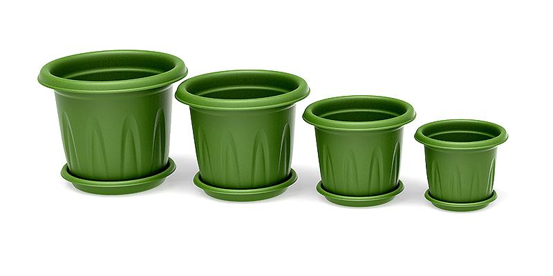Vasos florencia juntos verde